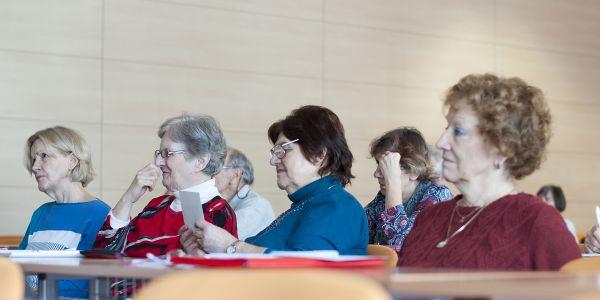 Posluchačky Univerzity třetího věku na Univerzitě Palackého v Olomouci. Foto: G. Knýblová
