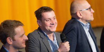 Autor snímku Ivo Bystřičan z České televize (uprostřed).
