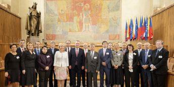 Setkání členů České konference rektorů (ČKR) s profesorem Michaelem Murphym, prezidentem Evropské univerzitní asociace.