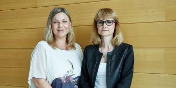 Hana Štverková a Petra Horváthová (zleva)