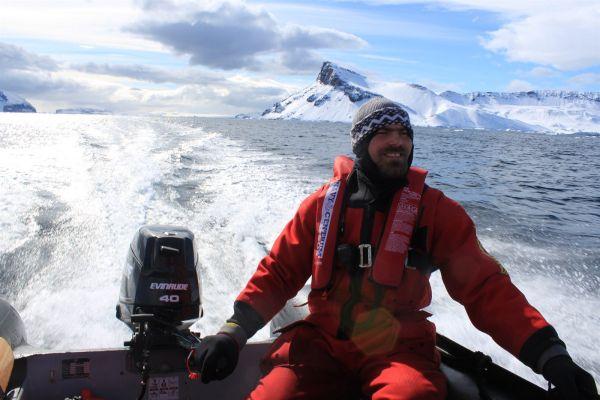 Pavel Kapler při expedici vAntarktidě.
