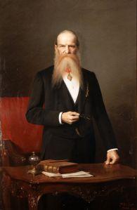Josef Hlávka na portrétu Václava Brožíka