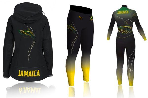 Bunda, kalhoty akombinéza od Zuzany Bahulové pro jamajské bobistky.