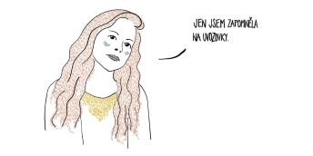 """Obě příručky ilustrovala výtvarnice a spisovatelka Marie König Dudziaková. """"Původní zadání bylo nakreslit o plagiátorství komiks. Jenže to by byla po pár dílech nuda – někdo něco opíše, přijde se na to, je potrestán. Konec. Proto jsem autory příručky poprosila, aby dali dohromady výmluvy, s nimiž se u svých studentů setkali,"""" popisuje."""