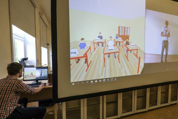 Virtuální třída plzeňské univerzity.